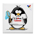 linux Penguin Tile Coaster