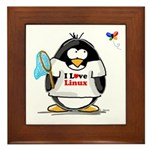 linux Penguin Framed Tile