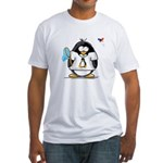 linux vs windows Penguin Fitted T-Shirt
