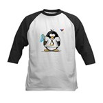 linux vs windows Penguin Kids Baseball Jersey