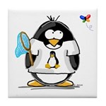 linux vs windows Penguin Tile Coaster