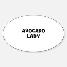 avocado lady Oval Decal