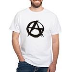 Anarchy-Blk-Whte White T-Shirt