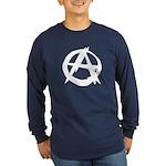 Anarchy-Blk-Whte Long Sleeve Dark T-Shirt