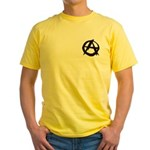 Anarchy-Blk-Whte Yellow T-Shirt