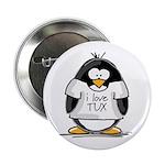 Love Tux Penguin Button