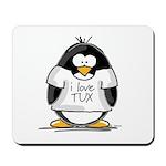 Love Tux Penguin Mousepad