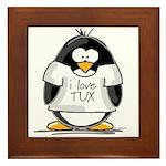 Love Tux Penguin Framed Tile