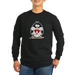 Heart tux Penguin Long Sleeve Dark T-Shirt