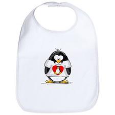 Heart tux Penguin Bib