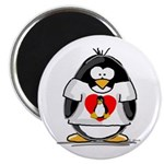 Heart tux Penguin Magnet