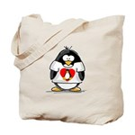 Heart tux Penguin Tote Bag