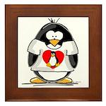 Heart tux Penguin Framed Tile