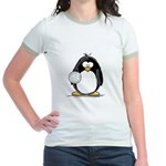 volleyball Penguin Jr. Ringer T-Shirt