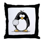 volleyball Penguin Throw Pillow