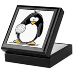 volleyball Penguin Keepsake Box