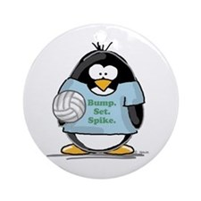 volleyball bump set spike Pen Ornament (Round)