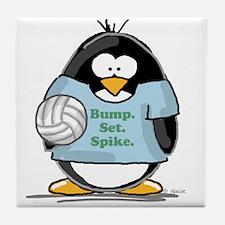 volleyball bump set spike Pen Tile Coaster