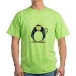 racquetball Penguin Green T-Shirt