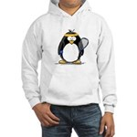 racquetball Penguin Hooded Sweatshirt