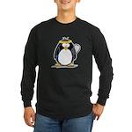 racquetball Penguin Long Sleeve Dark T-Shirt
