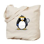 racquetball Penguin Tote Bag