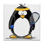 racquetball Penguin Tile Coaster