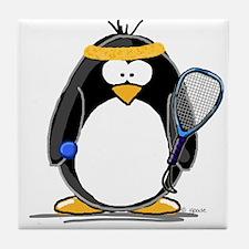 racquetball Penguin Tile Coaster