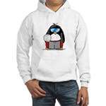 beach volleyball boy Penguin Hooded Sweatshirt