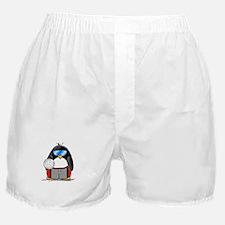 beach volleyball boy Penguin Boxer Shorts