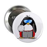 beach volleyball boy Penguin Button