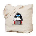 beach volleyball boy Penguin Tote Bag