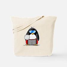 beach volleyball boy Penguin Tote Bag