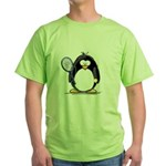 Tennis Penguin Green T-Shirt