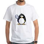 Tennis Penguin White T-Shirt