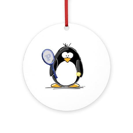 Tennis Penguin Ornament (Round)