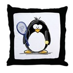 Tennis Penguin Throw Pillow