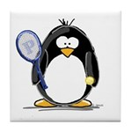 Tennis Penguin Tile Coaster