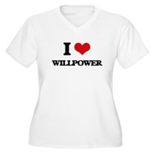 I love Willpower Plus Size T-Shirt