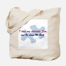 He Loves Me Back (Autism) Tote Bag