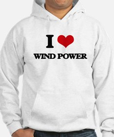 I Love Wind Power Hoodie