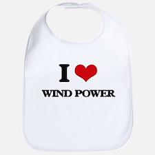 I Love Wind Power Bib