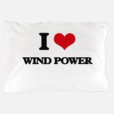 I Love Wind Power Pillow Case