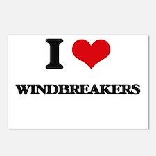 I love Windbreakers Postcards (Package of 8)