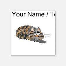 Custom Cat Curled Up Sticker