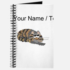 Custom Cat Curled Up Journal