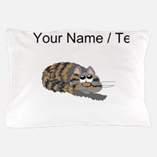 Custom Cat Curled Up Pillow Case