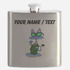 Custom Cool Cat Flask