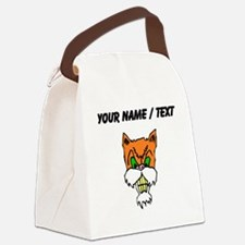 Custom Angry Cat Canvas Lunch Bag