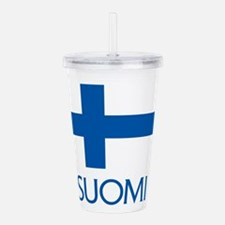 Suomi Flag Acrylic Double-wall Tumbler